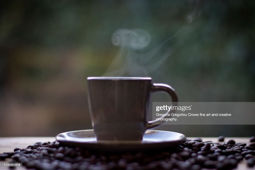 Steaming Coffee : Stock Photo