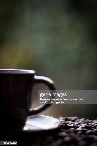 steaming coffee - gregoria gregoriou crowe fine art and creative photography. stock pictures, royalty-free photos & images