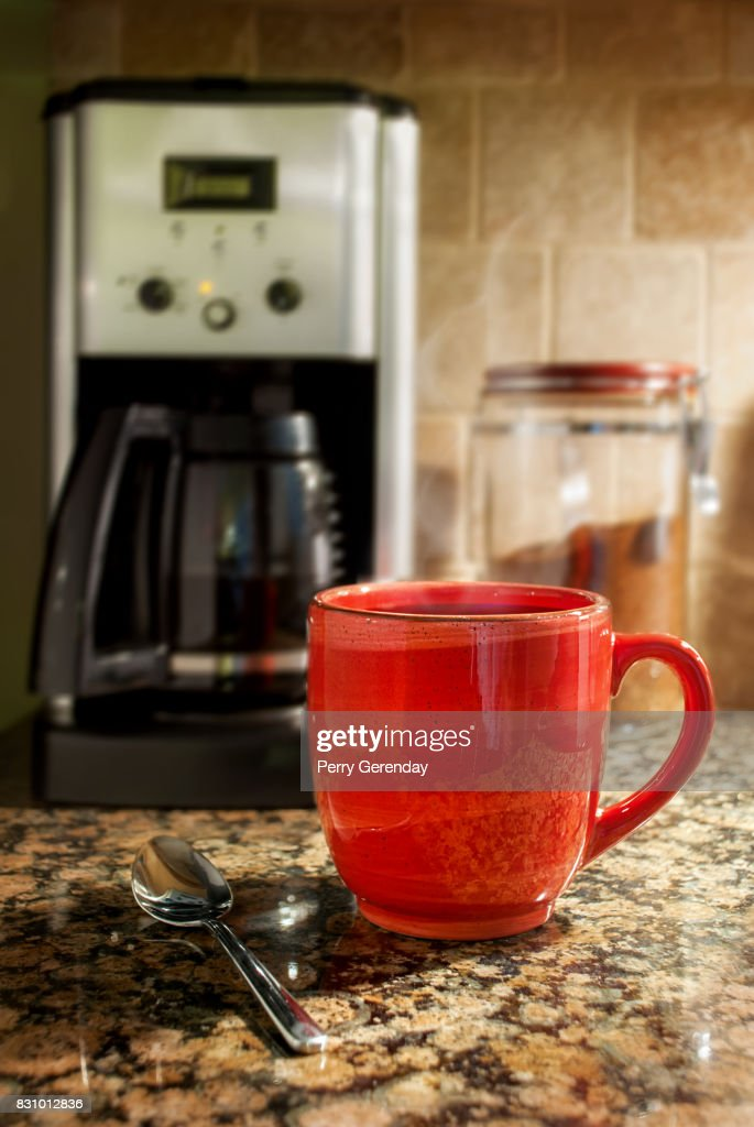 Steaming cup of coffee : Stock Photo