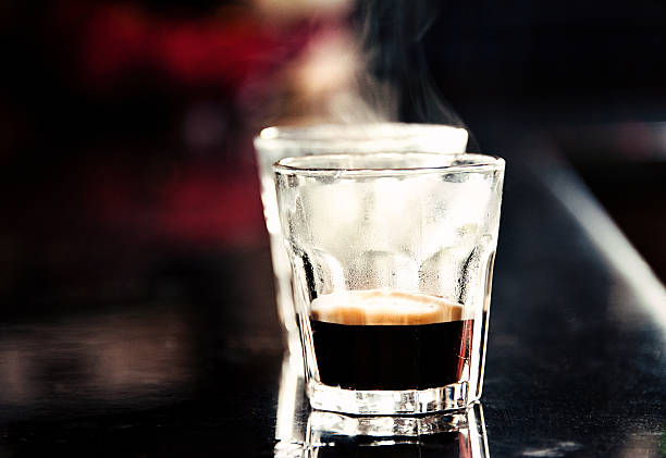 2 Steaming Espresso Shots In Glasses Wall Art Photo ID 171472690