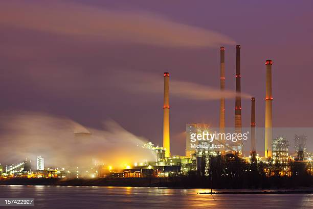 Steaming Industry At Night