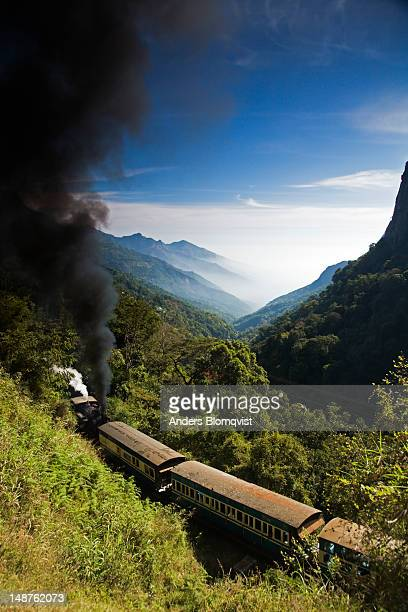 steam-powered miniature train from mettupalayam to udhagamandalam (ooty). - tamil nadu stock pictures, royalty-free photos & images
