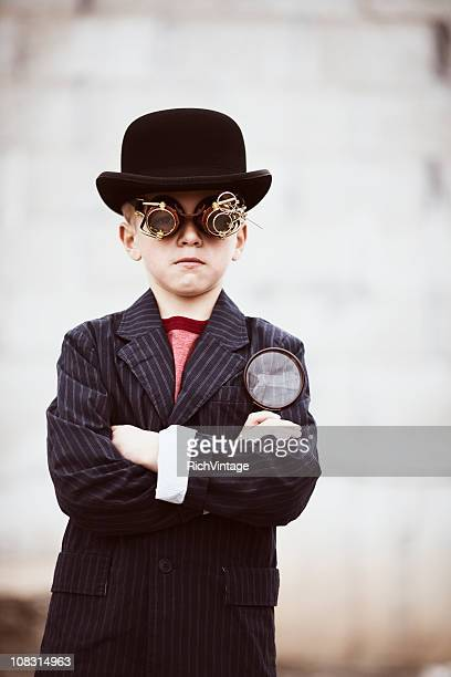 steampunk detective - big brother orwellian concept stock pictures, royalty-free photos & images