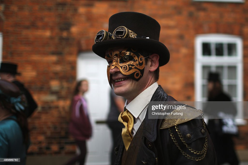Participants From Around The Globe Attend The Asylum Steampunk Festival : News Photo