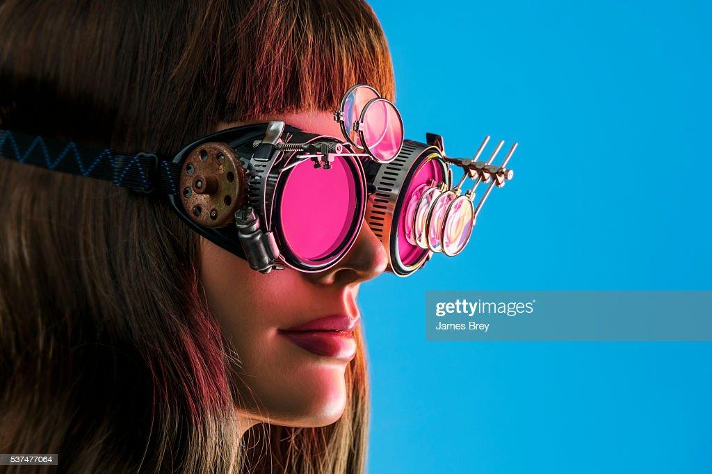 Steampunk Future Vision Girl : Stock Photo
