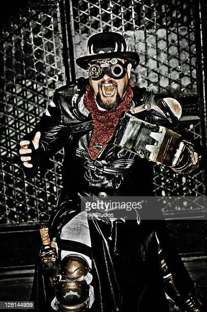 Steampunk Man with Claw Arm