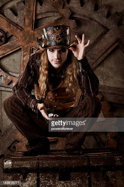 Steampunk Man with Pocket Watch