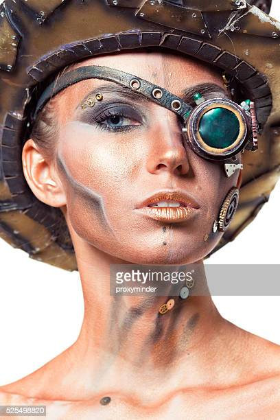 steampunk - golden goggles stock pictures, royalty-free photos & images