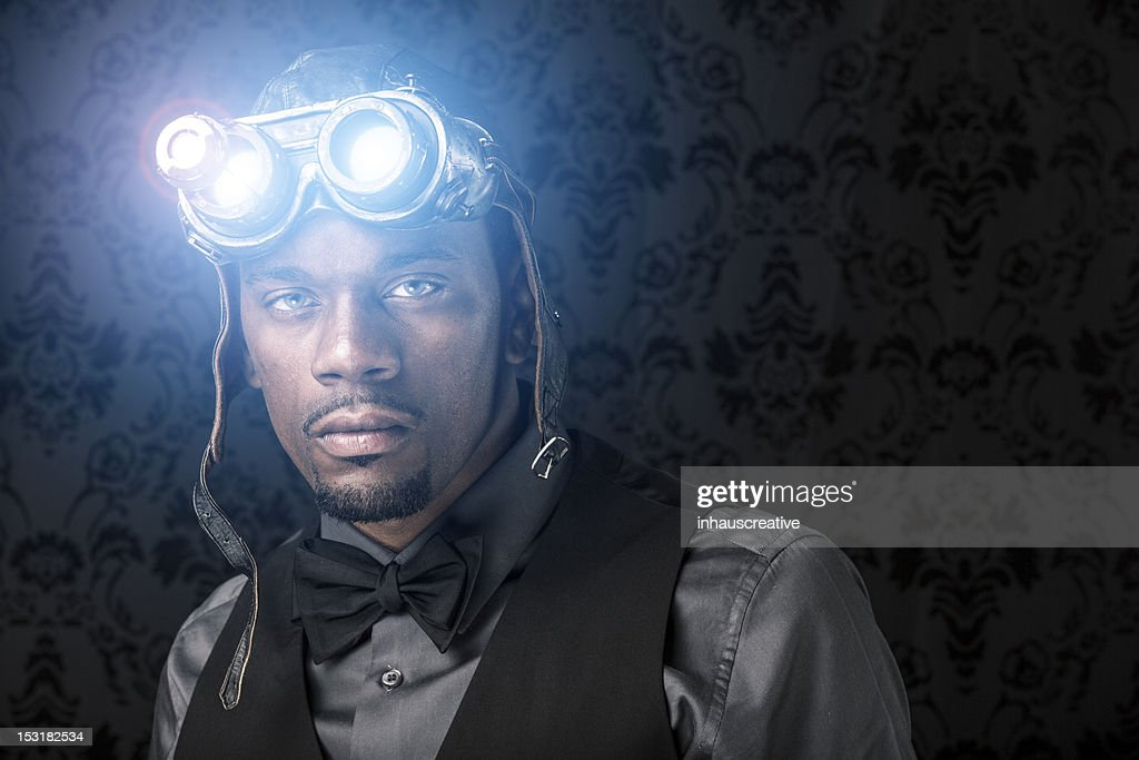 Steampunk Xray Vision Warrior : Stock Photo