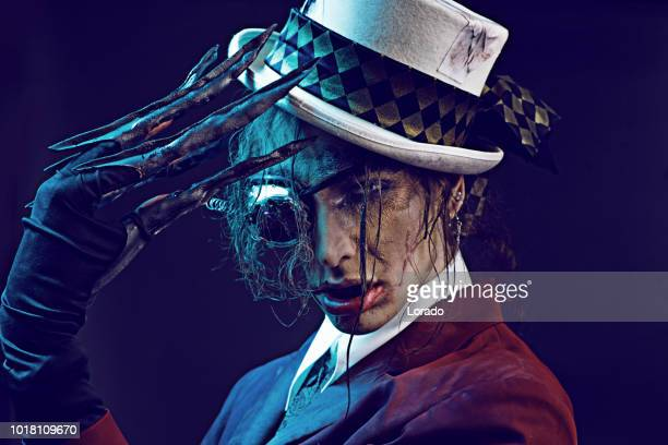 steampunk zombie - horror movie stock photos and pictures