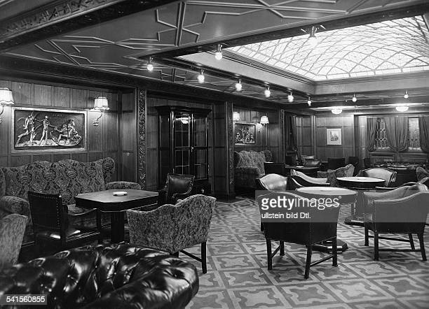 Steamship 'Columbus' of the shipping company Norddeutscher Lloyd Smokingparlor of the second class Photographer Heinrich Engelke 1924Vintage property...