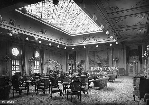 Steamship 'Columbus' of the shipping company Norddeutscher Lloyd Public saloon of the first class Photographer Heinrich Engelke 1924Vintage property...