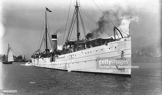 Steamship 'Dixie' in New York Harbor probably for the HudsonFulton celebrations New York New York late 1900s