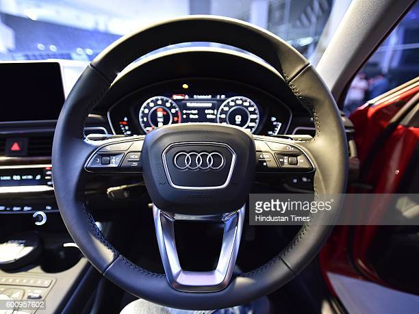 Stearing and Meter baox of the all new Audi A4 which launch on September 8 2016 in New Delhi India
