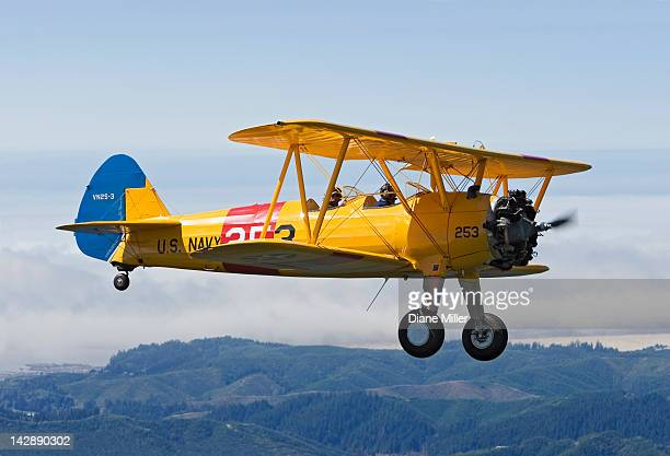 1943 stearman biplane - 1943 stock pictures, royalty-free photos & images