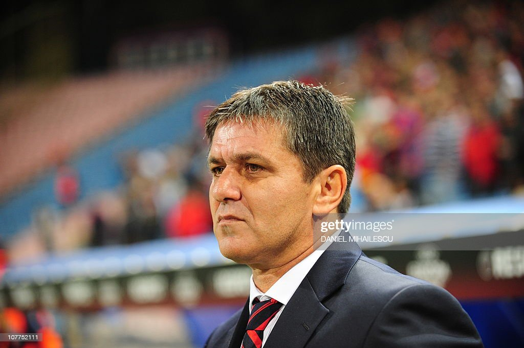 Steaua Bucharest team coach Marius Lacat : News Photo