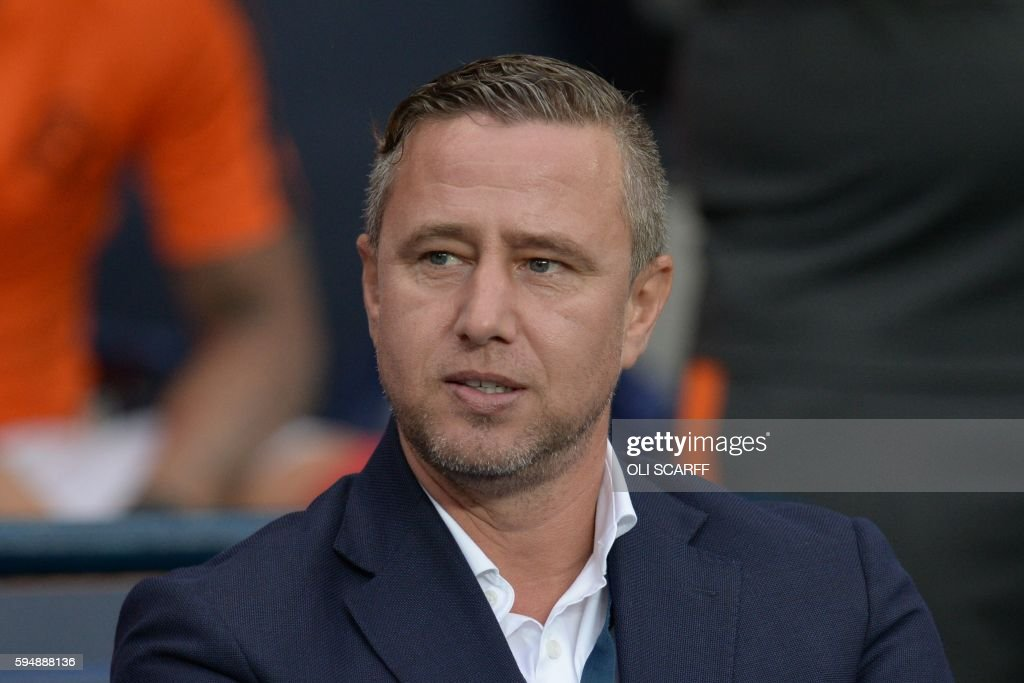 Steaua Bucharest's Romanian manager Laurentiu Reghecampf arrives for the UEFA Champions League second leg play-off football match between Manchester City and Steaua Bucharest at the Etihad Stadium in Manchester, north west England on August 24, 2016. /