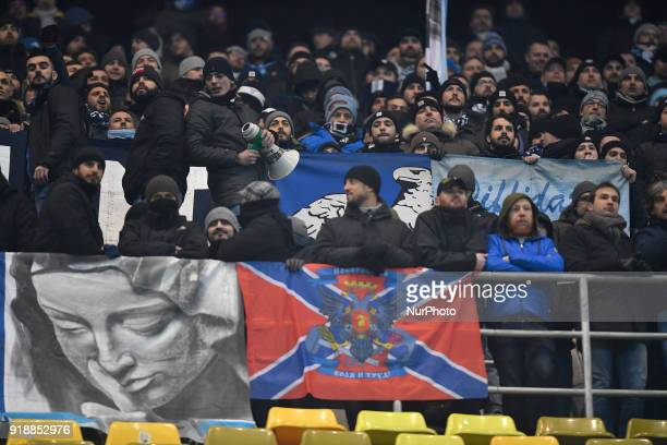 Steaua's ultras during UEFA Europa League Round of 32 match between Steaua Bucharest and Lazio at the National Arena on February 15 2018 in Bucharest...