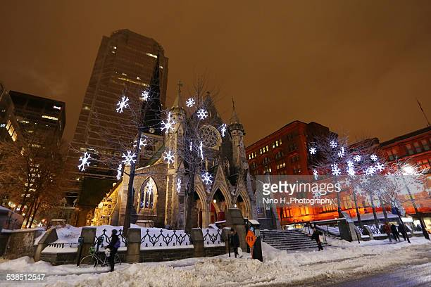 Ste-Catherine street at night - Montreal