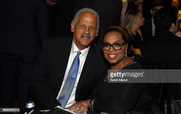 Stedman Graham and Oprah Winfrey attend The Robin Hood Foundation's 2018 benefit at Jacob Javitz Center on May 14 2018 in New York City
