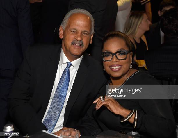 Stedman Graham and Oprah Winfrey attend The Robin Hood Foundation's 2018 benefit at Jacob Javitz Center on May 14, 2018 in New York City.