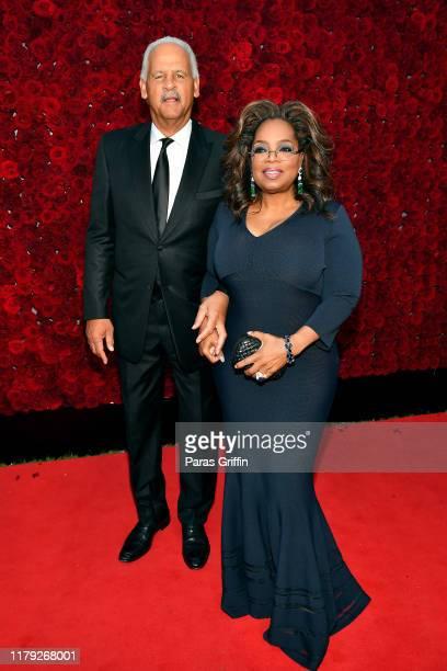 Stedman Graham and Oprah Winfrey attend Tyler Perry Studios grand opening gala at Tyler Perry Studios on October 05, 2019 in Atlanta, Georgia.