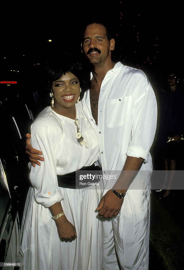 Oprah Winfrey and Stedman Graham Oprah Winfrey and Stedman Graham Sighting at Stingfellow's Restaurant after the 14th Annual Day : News Photo
