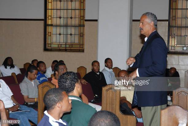 Stedman Graham during Stedman Graham gives Inspirational Talk to African American Male Youth at Mount Zion First AME Church in Los Angeles,...