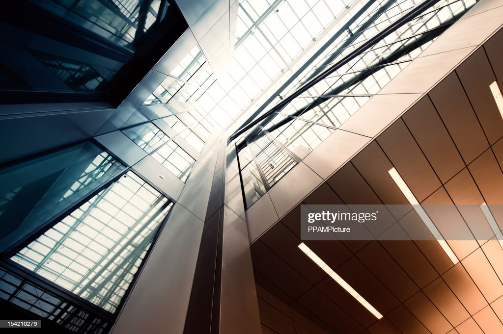 Steel and glass building : Stockfoto