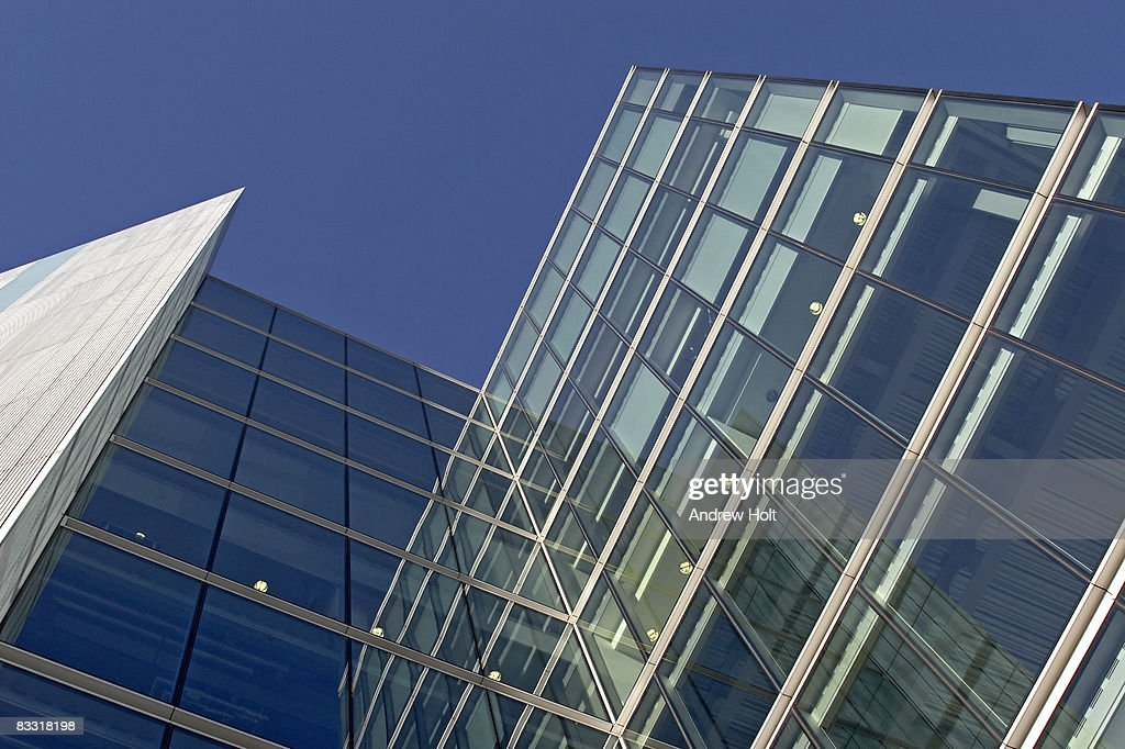 glass exterior modern office. Steel And Glass Exterior Of Modern Office Building : Stock Photo
