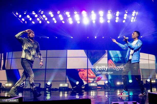 Steel Banglez and MoStack perform at O2 Academy Brixton on November 11, 2019 in London, England.