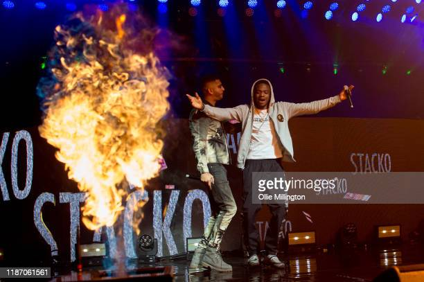 Steel Banglez and Not3s perform at O2 Academy Brixton on November 11, 2019 in London, England.