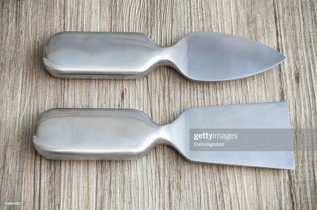 Steel Blade for Italian Parmigiano : Stock Photo