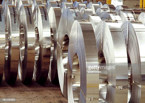 Steel Coils In a Factory