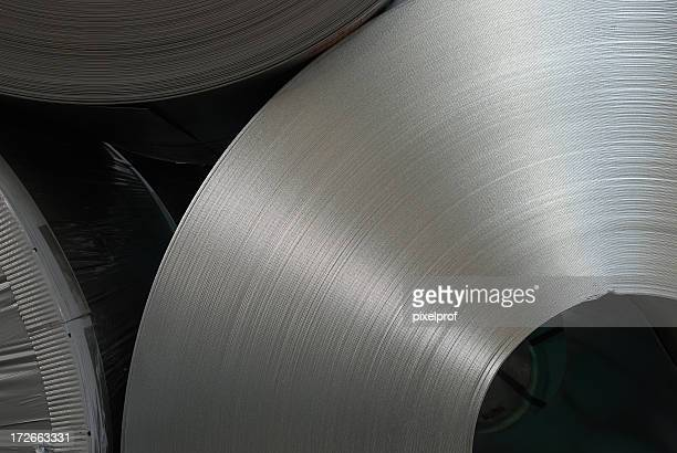 steel coils - rolled up stock pictures, royalty-free photos & images