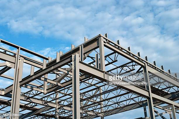 steel construction frame - built structure stock pictures, royalty-free photos & images