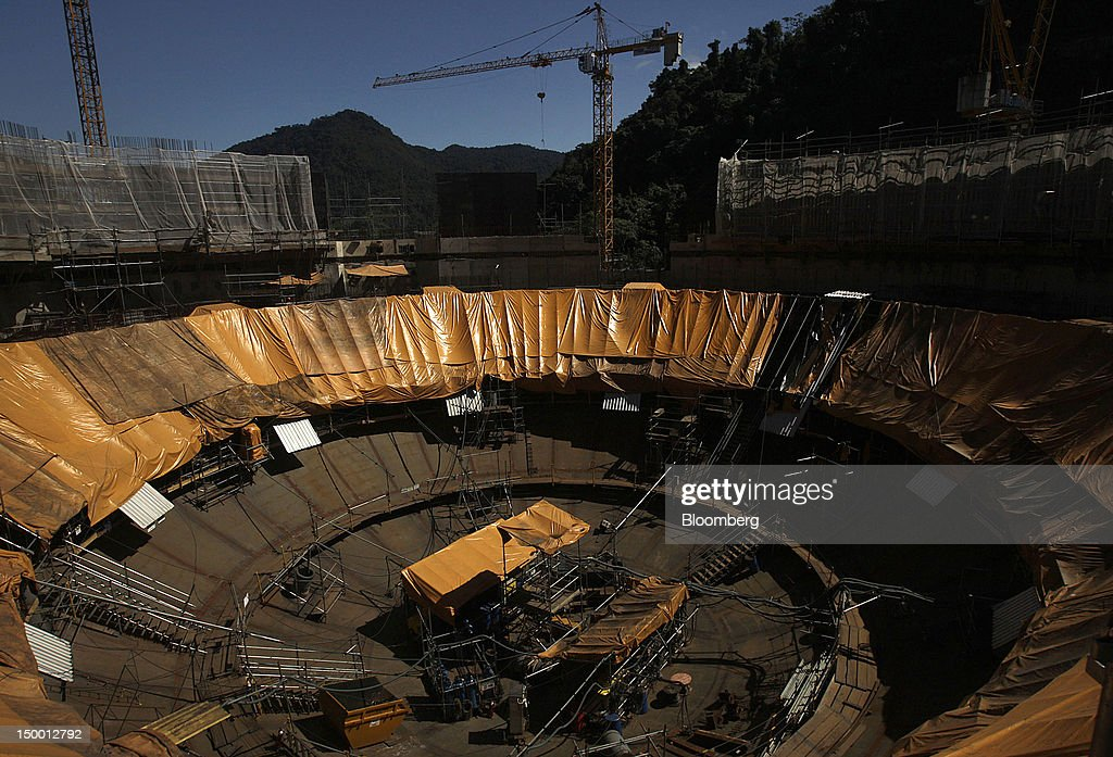 General Views of Construction at The Angra Nuclear Power Plant : News Photo