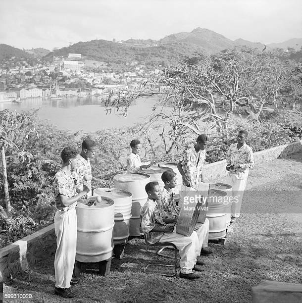 Steel Drum Band at Lookout Over Lake Grenada