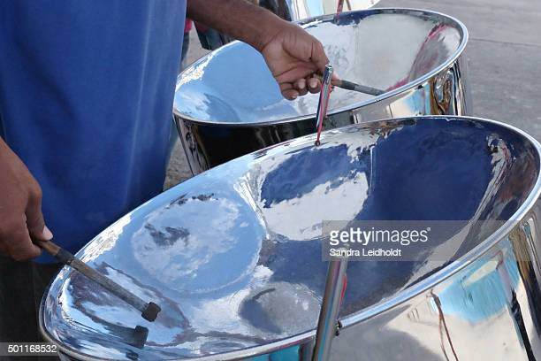steel drums of the caribbean - steel drum stock photos and pictures