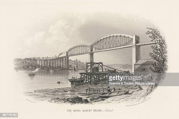 Steel engraving by R T Pentreath The Royal Albert Bridge was built by Sir Isambard Kingdom Brunel and was opened by HRH Prince Albert the Prince...