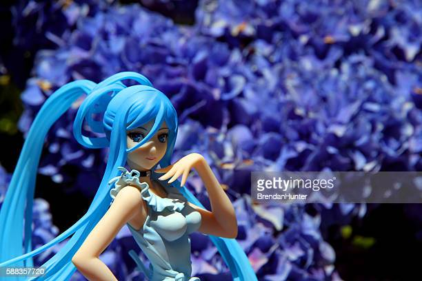 steel flowers - anime stock photos and pictures