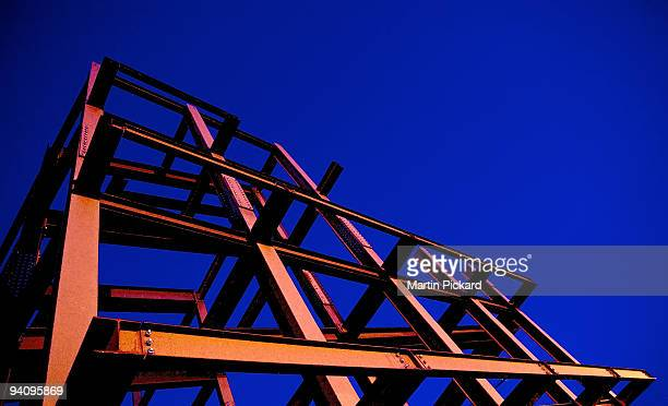 steel girder building framework - prop stock photos and pictures