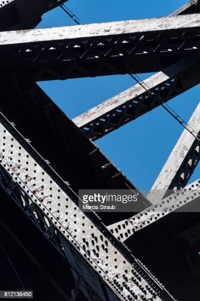 Steel Girders against a Deep Blue Sky