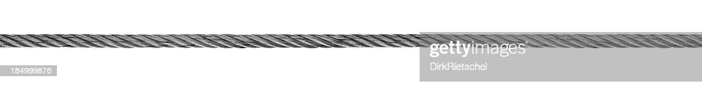 Steel Ankertau. : Stock-Foto