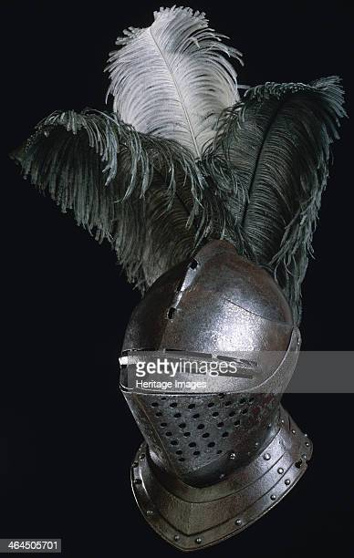 Steel helmet made in the Royal Armory at Greenwich Palace from London c1540