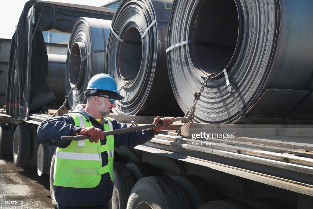 Trump Administration Steel Tariffs Aims To Protect And Aid U.S. Steel Industry : News Photo