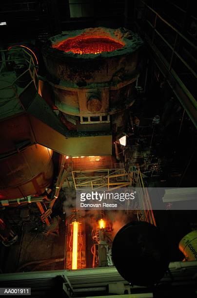 steel manufacturing - steelmaking stock photos and pictures
