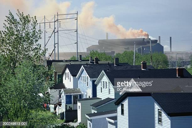 steel mill, sydney, nova scotia, canada, elevated view - sydney fotografías e imágenes de stock
