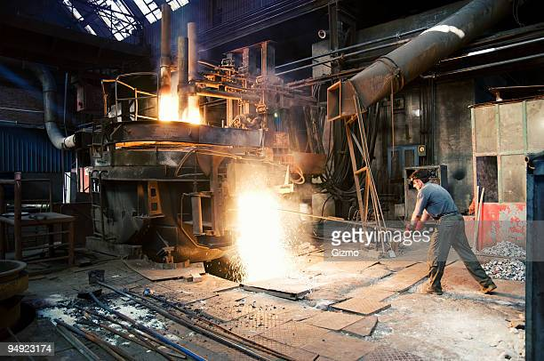steel mill worker - steelmaking stock photos and pictures