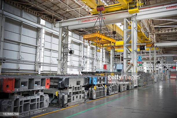 steel moulds for pressing car body parts in car factory - northwest england stock pictures, royalty-free photos & images
